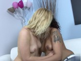 Cute blue eyed blond lesbian is taken care of